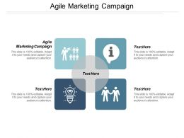 Agile Marketing Campaign Ppt Powerpoint Presentation Gallery Themes Cpb