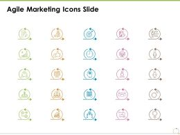 Agile Marketing Icons Slide Ppt Powerpoint Presentation File Brochure