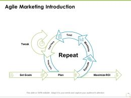 Agile Marketing Introduction Goals Plan Ppt Powerpoint Presentation Slides Smartart