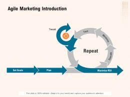 Agile Marketing Introduction Ppt Powerpoint Presentation Good