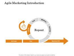 Agile Marketing Introduction Ppt Powerpoint Presentation Icon Microsoft
