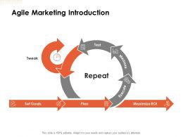 Agile Marketing Introduction Ppt Powerpoint Presentation Ideas