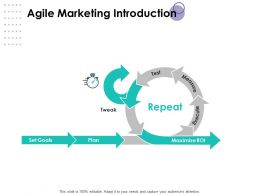 Agile Marketing Introduction Process Planning Ppt Powerpoint Presentation Portfolio Design
