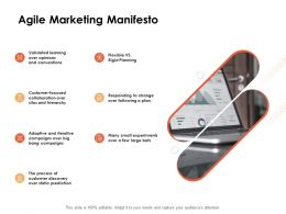 Agile Marketing Manifesto Ppt Powerpoint Presentation Samples