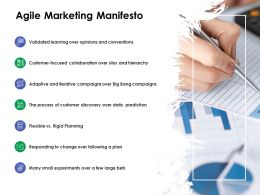 Agile Marketing Manifesto Ppt Powerpoint Presentation Styles Files
