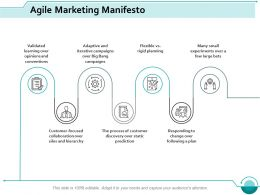 Agile Marketing Manifesto Ppt Styles Professional