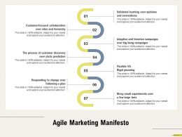 Agile Marketing Manifesto Rigid Planning Ppt Powerpoint Presentation Ideas Display
