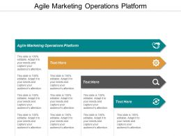 Agile Marketing Operations Platform Ppt Powerpoint Presentation File Guide Cpb