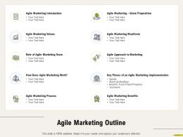 Agile Marketing Outline Introduction M681 Ppt Powerpoint Presentation Layouts Graphic Images