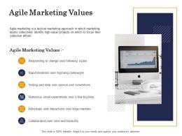 Agile Marketing Values Data Ppt Powerpoint Presentation Layouts Background