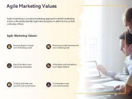 Agile Marketing Values Ppt Powerpoint Presentation Icon Topics