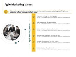 Agile Marketing Values Ppt Powerpoint Presentation Ideas Brochure