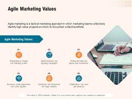 Agile Marketing Values Ppt Powerpoint Presentation Infographic Focus