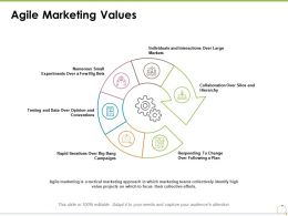 Agile Marketing Values Ppt Powerpoint Presentation Styles Deck