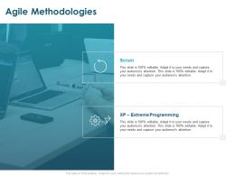 Agile Methodologies Extreme Programming Ppt Powerpoint Presentation Show Design Ideas