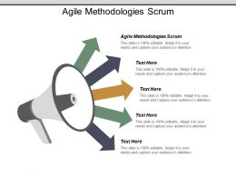 Agile Methodologies Scrum Ppt Powerpoint Presentation Gallery Graphics Pictures Cpb