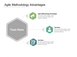 Agile Methodology Advantages Ppt Powerpoint Presentation Infographic Template Objects Cpb