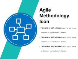 Agile Methodology Icon Sample Of Ppt