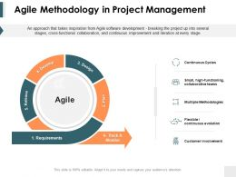 Agile Methodology In Project Management Ppt Powerpoint Presentation Show Visuals