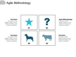 Agile Methodology Ppt Powerpoint Presentation Diagram Lists Cpb
