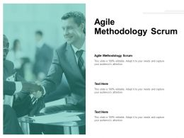 Agile Methodology Scrum Ppt Powerpoint Presentation Topics Cpb