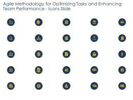 Agile Methodology Tasks And Enhancing Team Performance Icons Slide Ppts Portfolio