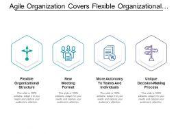 Agile Organization Covers Flexible Organizational Structure Format Decision