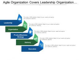 Agile Organization Covers Leadership Organization Strategy Delivery Execution