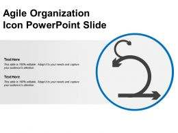 Agile Organization Icon Powerpoint Slide
