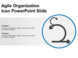 Agile Organization Icon Powerpoint Slide