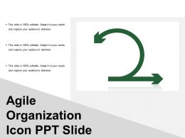 Agile Organization Icon Ppt Slide