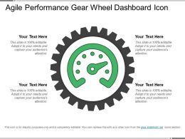 Agile Performance Gear Wheel Dashboard Icon