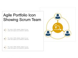 Agile Portfolio Icon Showing Scrum Team