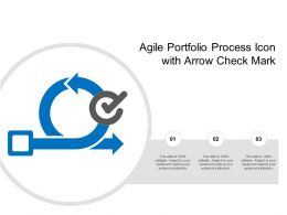 Agile Portfolio Process Icon With Arrow Check Mark