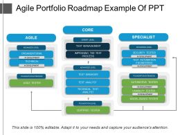 Agile Portfolio Roadmap Example Of Ppt