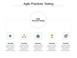 Agile Practices Testing Ppt Powerpoint Presentation Icon Vector Cpb