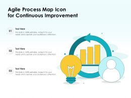 Agile Process Map Icon For Continuous Improvement