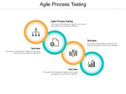 Agile Process Testing Ppt Powerpoint Presentation Show Aids Cpb