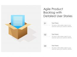 Agile Product Backlog With Detailed User Stories