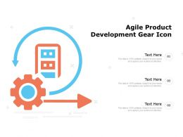 Agile Product Development Gear Icon