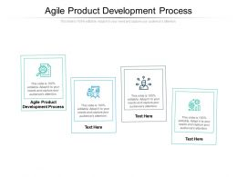 Agile Product Development Process Ppt Powerpoint Presentation Inspiration Professional Cpb