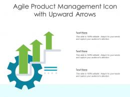 Agile Product Management Icon With Upward Arrows
