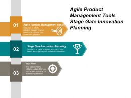 Agile Product Management Tools Stage Gate Innovation Planning Cpb
