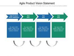 Agile Product Vision Statement Ppt Powerpoint Presentation Slides Example Introduction Cpb