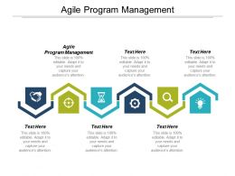 Agile Program Management Ppt Powerpoint Presentation Ideas Smartart Cpb