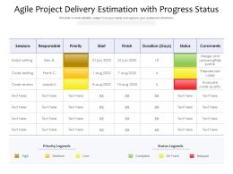 Agile Project Delivery Estimation With Progress Status