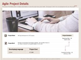 Agile Project Details Google Navigation Ppt Powerpoint Presentation Pictures Structure