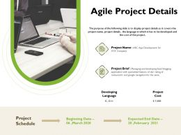 Agile Project Details Navigation Ppt Powerpoint Presentation Styles Background Images
