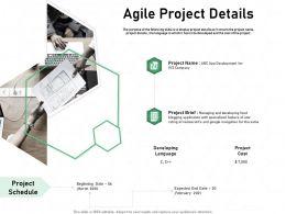 Agile Project Details Navigation Ppt Powerpoint Presentation Visual Aids Professional
