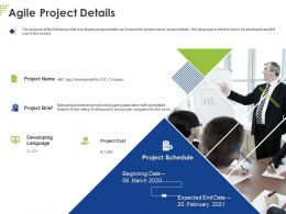 Agile Project Details Ppt Powerpoint Presentation Slides Example File